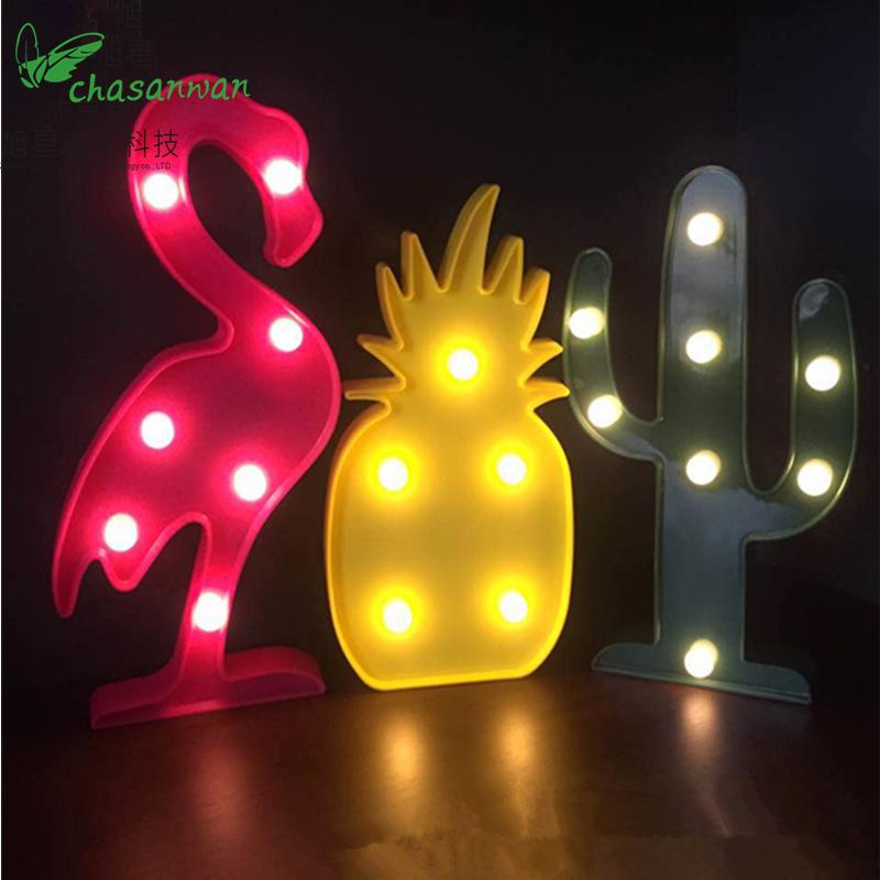 Unicorn Head Led Light Animal Marquee Lamps on Wall for New Year Christmas Children Party Bedroom Decor Kids Gifts Noel Natal,Q
