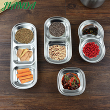ФОТО Sauce plate stainless steel small dish of soy sauce kitchen table ware vinegar dish oil pepper plate