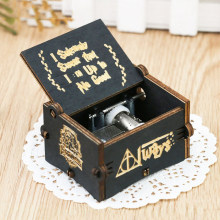 Wooden Carving Hand-crafted Music Box Christmas Baby Birthday Happy Gift Game Of Thrones Castle In The Sky Theme Music Box 25(China)