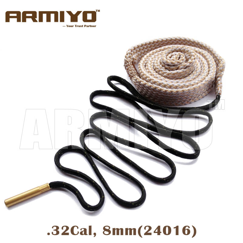 Armiyo Bore Snake 8mm .32Cal Gun Bore Cleaning Sling 24016 Rifle Barrel Cleaner Shooting Accessories