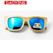 DAOYING New Fashion bamboo sunglasses men and women sunglasses wooden polarized lens vintage glasses no design arm LUB102