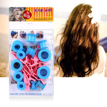 12pcs Hair Care Solid Balls Tool Kit Treatment Soft Plastic Hair Roll Rollers Clips