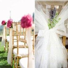 150cmX2meters Organza Ribbon Craft Romantic Wedding Table Birthday Baby Showe Party Decoration DIY Snow Yarn Gift