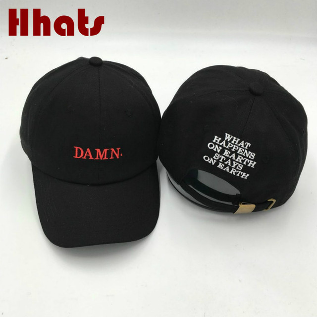 edc13c99b042d which in shower embroidery black DAMN dad hat women adjustable cotton  baseball cap hip hop for men summer snapback hat cap bone