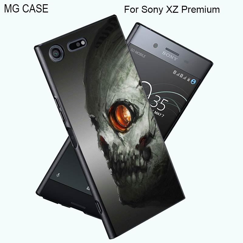 For Sony XZP Funny Cool Skull Head Phone Cases For Sony XZ Premium Xperia XZ Z5Premium Z5 Xperia X XA Mobile Phone Cover Shell