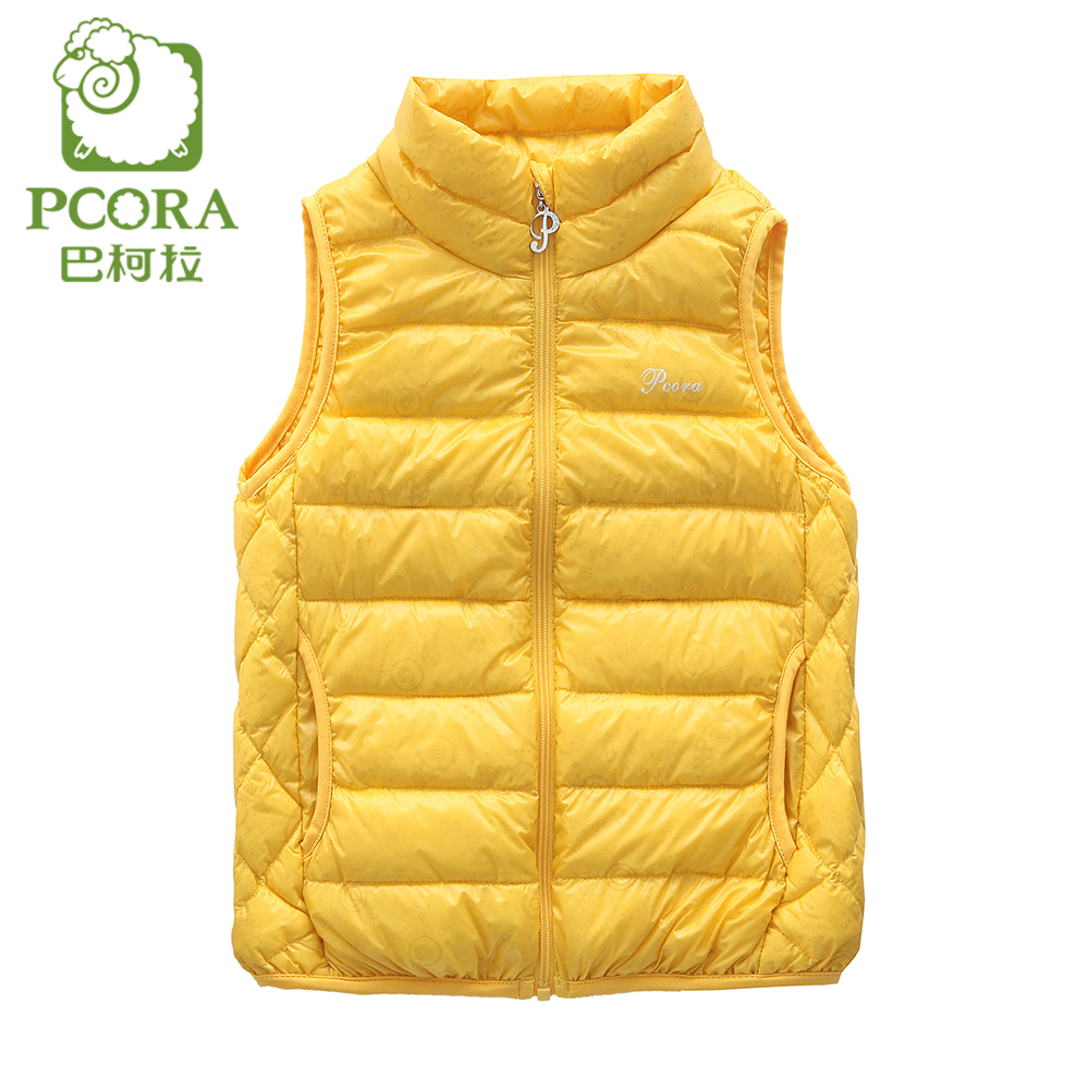 PCORA Girls Vest Kids Children Vest Waistcoat Winter ...