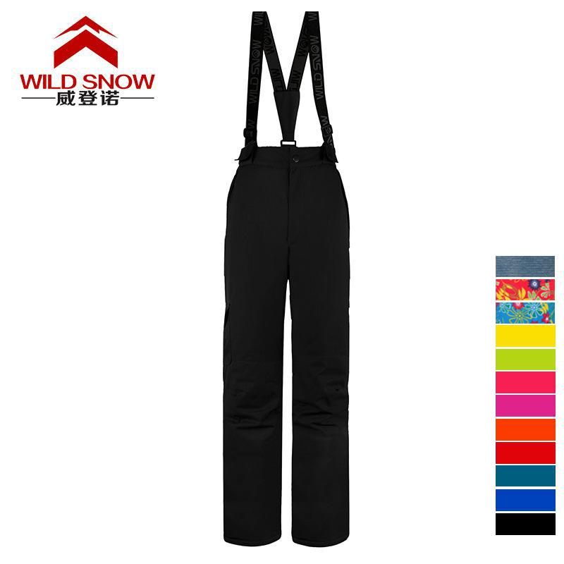 Dropshipping -30 Degree Snow Pants Plus Size Elastic Waist Lady Trousers Winter Skating Pants Skiing Outdoor Ski Pants For Women 5xl plus size jeans 2017 new high waist jeans fashion elastic women washed pants casual pencil denim slim trousers