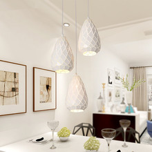 Modern Led Indoor Pendant Light Fixture Iron Suspension Lumi