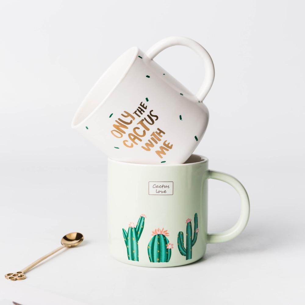 european cup office coffee. EECAMAIL European Style Cactus Mug Ceramic Cup Lovers Office Coffee Household Breakfast Green Mug-in Mugs From Home \u0026 Garden On C
