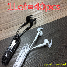 HOT! prime quality 40pcs/lot S7 Headsets In-ear Earphones Headphones Palms-free with Mic Emblem For Samsung HuaWel Nokia HTC Xiaom1