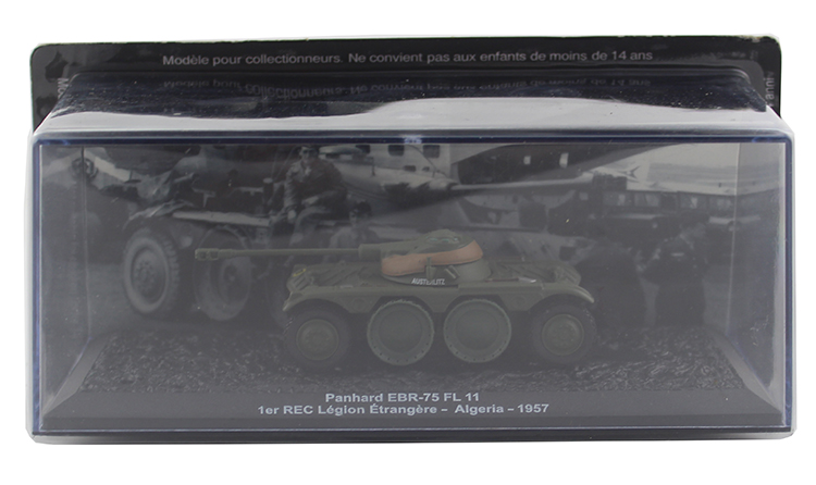 IXO 1/72 Panhard EBR-75 FL 11 France Wheeled armoured reconnaissance vehicle Alloy collection model Holiday gift ixo 1 43 model of heavy duty wheeled armored vehicle in czechoslovakia sd kfz 234 2 alloy model collection model holiday gift