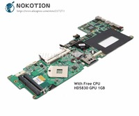 NOKOTION For HP Envy 15 Laptop Motherboard DASP7DMBCD0 597597-001 MAIN BOARD PM55 HD5830 graphics DDR3 Free CPU