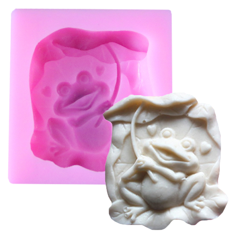 Frozen Ice Cream Cake Mold Bakeware Diy Frog Shape Making Moon Cake Production And Candles Shape Model Cookie Cutter Baking