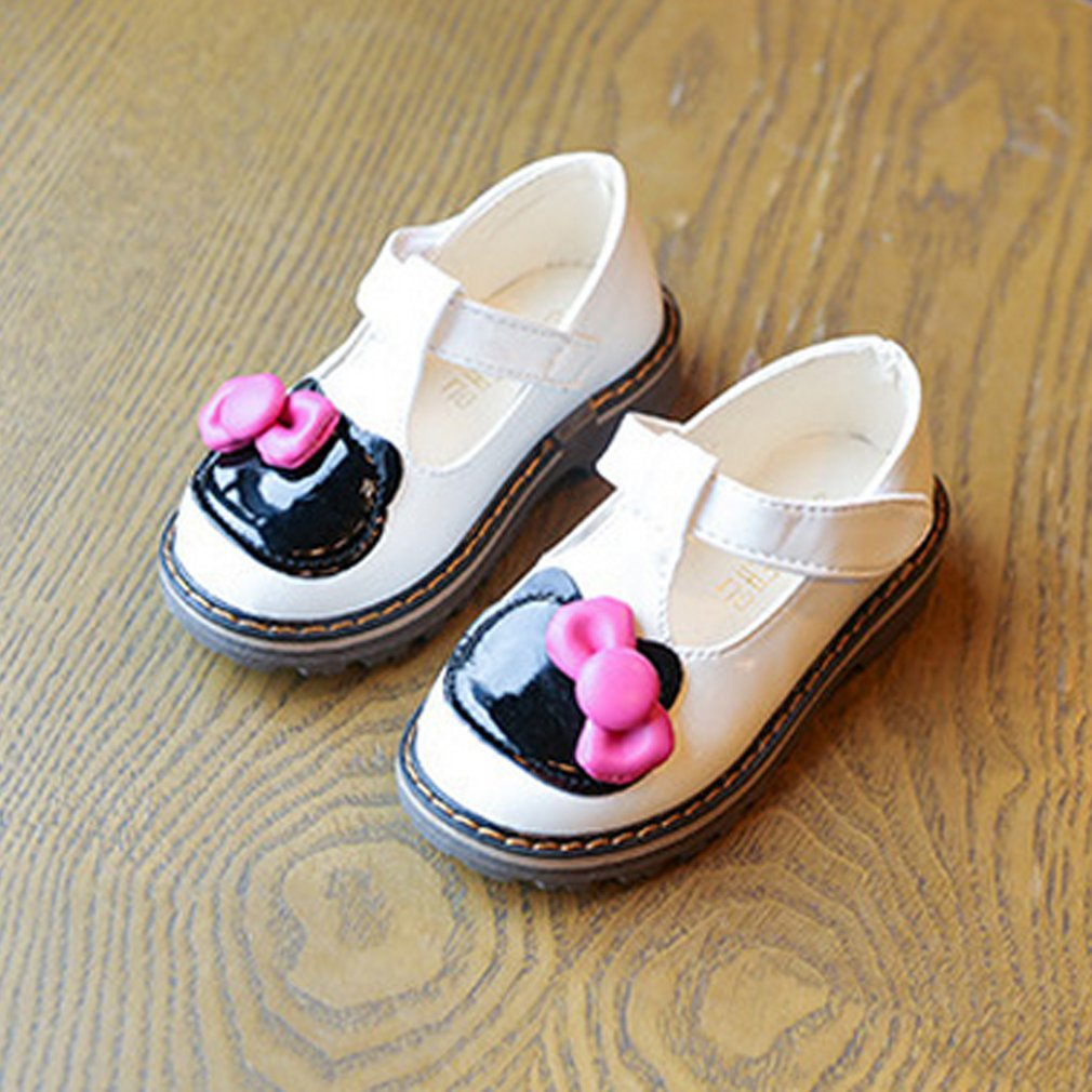 OUTAD Fashion Baby Girl Shoes Girl First Walkers Flat Sole Bowknot Anti-slip Round Toe P ...