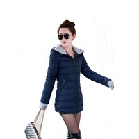 Mozhini High Quality Spring Autumn Parka Jacket Women Winter Coat Medium Long Cotton Padded Warm Jacket