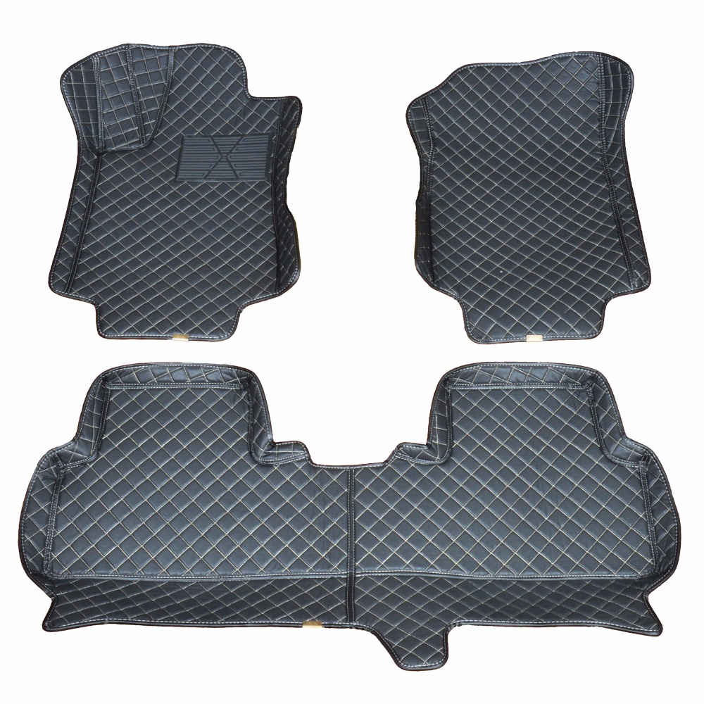 Custom car floor mats for 2010-16 Honda CRV Waterproof antiskid to enhance safety dust proof easy cleaning beautiful fashion seven seats cars dedicated floor mats rubber feet thick waterproof latex non slip easy to clean carpets for highlander