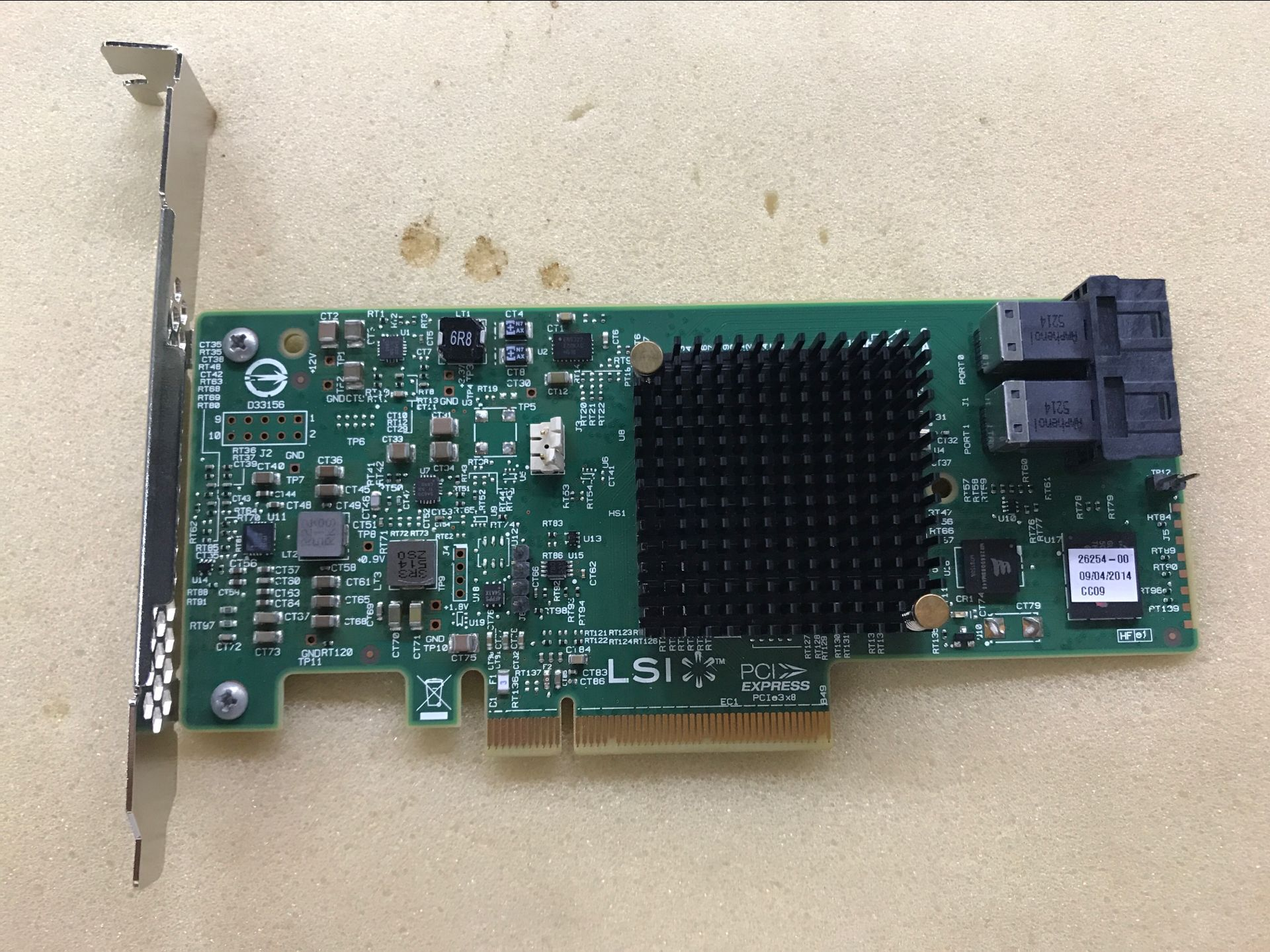 LSI 9341-8i 12Gb/s PCI-e 3.0 MegaRAID SAS Dual Core ROC RAID Card WFN6R