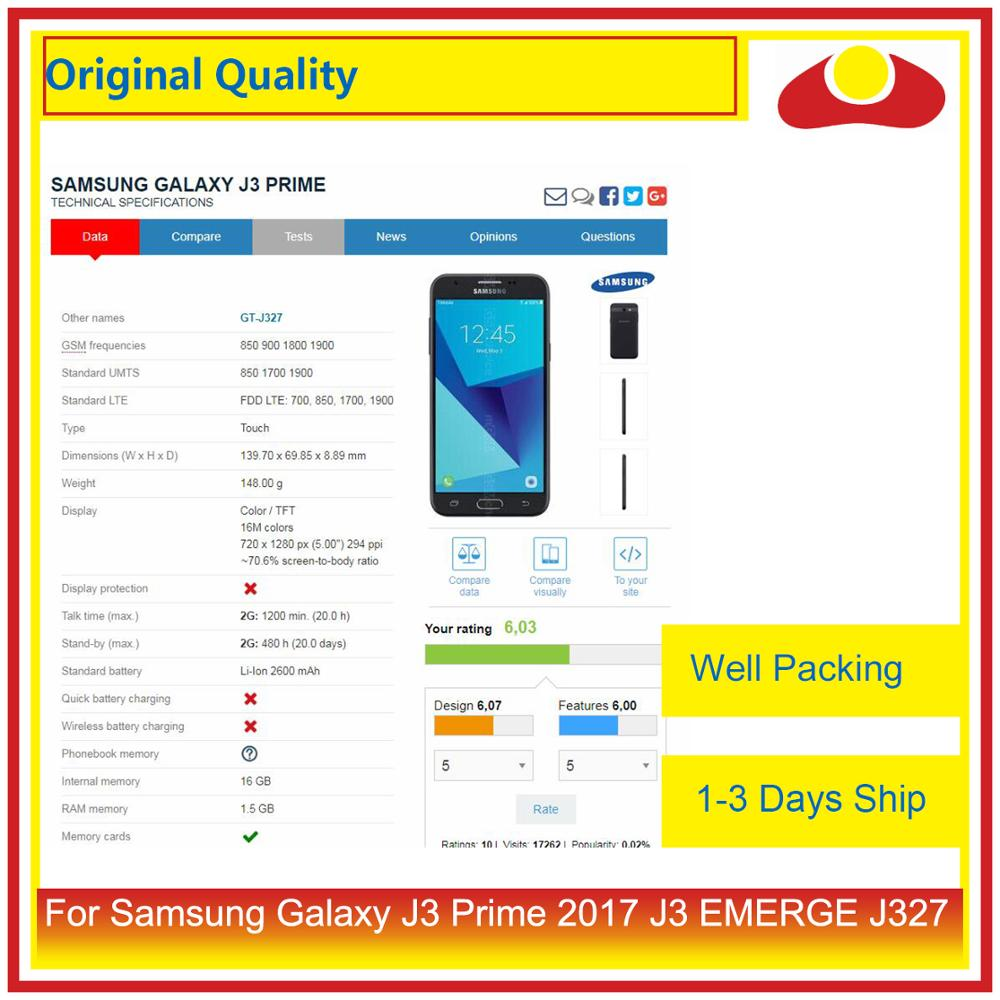 Image 5 - 50Pcs/lot Original For Samsung Galaxy J3 Prime J3 EMERGE J327 LCD Display With Touch Screen Digitizer Panel Pantalla Complete-in Mobile Phone LCD Screens from Cellphones & Telecommunications
