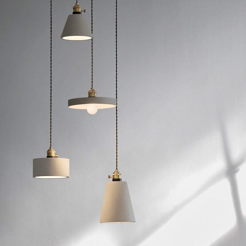 Industrie Retro Nostalgie Zement Hängen Lampe Kreative Loft Eisen Pendelleuchte E27 Cafe Bar Lichttechnik Art Deco PL684 - 4