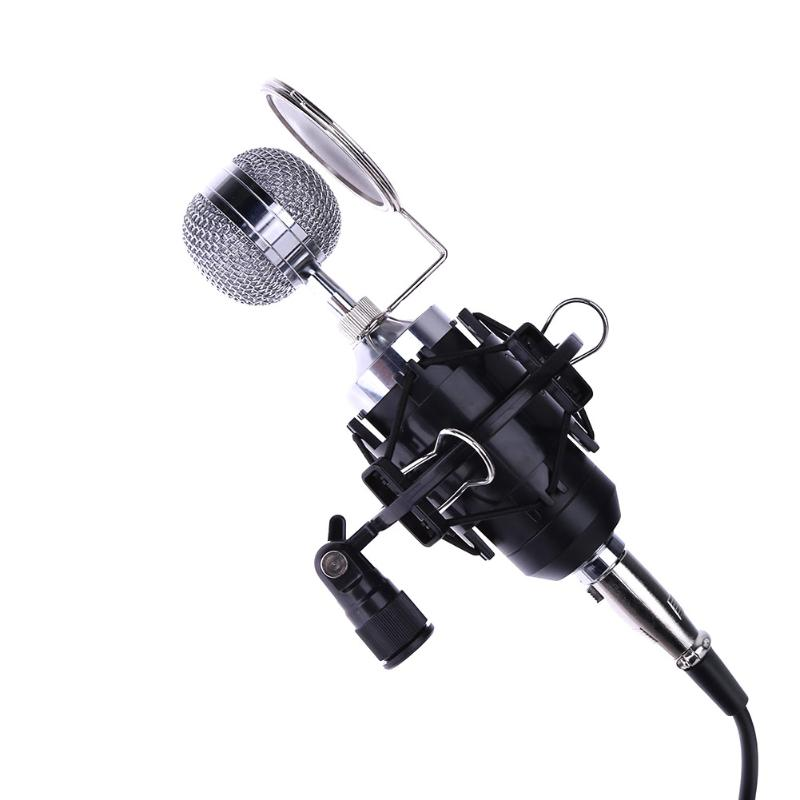 High Quality E-1500 Condenser Microphone with XLR Cable for Studio Recording Singing for Macbook Notebook best quality yarmee multi functional condenser studio recording microphone xlr mic yr01