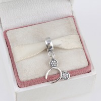 Fits Pandora Bracelets Minnie Headband Silver Charms With Zirconia New Real 925 Sterling Silver Beads Dangle