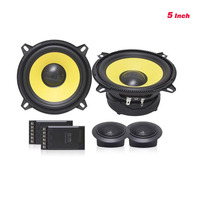 High end Quality 5inch Car Audio Speaker Sets Full Range With Dome Tweeter Speaker And Crossover Divider