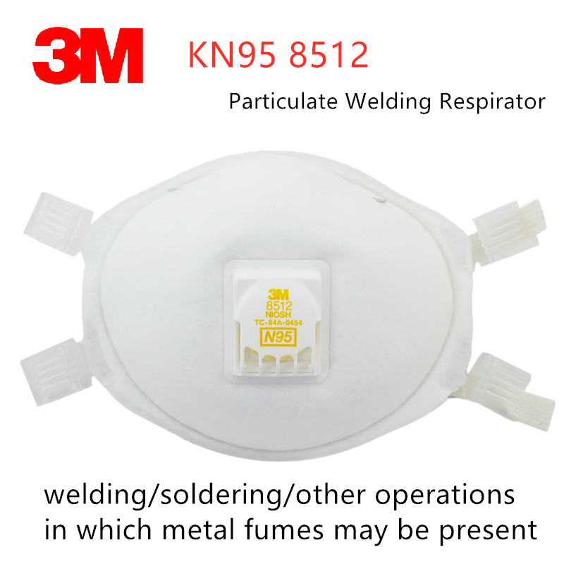 1/5pcs 3M N95 8512 Protective Welding Dust Mask Durable Professional Filter Respirator Flame-retardant Exterior Cutting Grinding