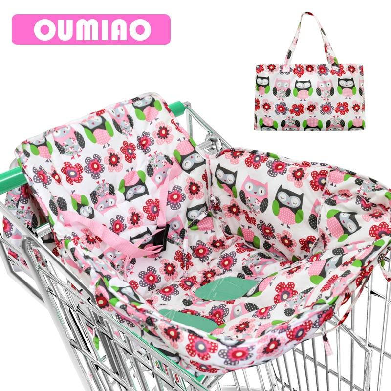 Portable Baby Shopping Cart Cover Cushion Pad