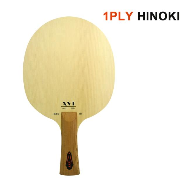XVT Hinoki pagaie de Tennis de Table 1 pli 800, unique