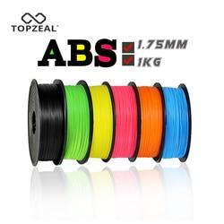 TOPZEAL 3D Stampante Filamento ABS 1.75 millimetri Dimensionale Precisione di +/-0.02 millimetri 1 KG 343 M 2.2LBS 3D materiale di stampa di Plastica per RepRap