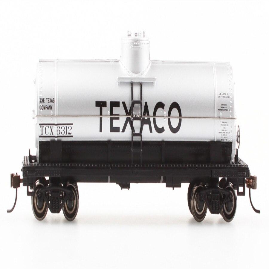 HO série américaine simulation roue en métal 40 pieds argent unique modèle de train citerne à gaz