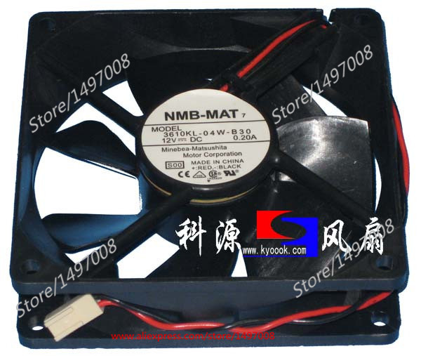 NMB-MAT 4710KL-04W-B30, B00 DC 12V 0.20A, 92x92x25mm    80mm Server Square  fan nmb mat 3110kl 04w b49 b02 b01 dc 12v 0 26a 3 wire server square fan