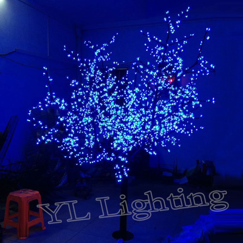 online shop 23meters 2400pcs artificial christmas trees with led lights outdoor tree decorations blue christmas lights free shipping europ aliexpress - Led Blue Christmas Lights