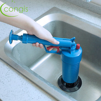 Congis 1pc High Pressure Air Drain Blaster Pump Plunger Sink Pipe Clog Remover Toilets Bathroom Kitchen Cleaner Kit Sewer Filter