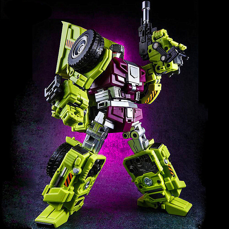 jinbaoes Larger version Action figure Robot Ko Version Gt Hook Mixmaster Long Haul Of Devastator left Thigh Action Figure Toys [new] 6 in 1 in stock nbk 01 06 hook action figure robot ko version gt scraper of devastator action figure toysoutdoor beach