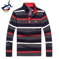 Tace & Shark brand men sweaters striped knitwear men wool swetry pullover male casual business 2018 Winter sweater