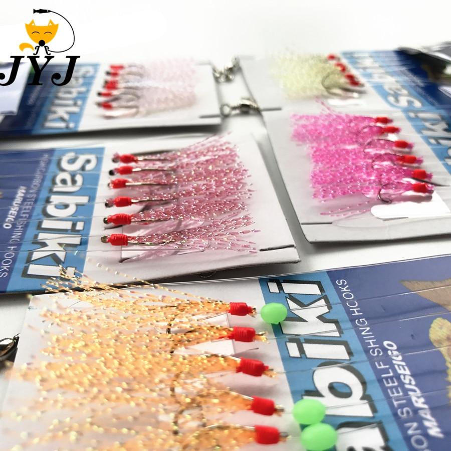 5 Bags Fishing Sabiki Samodur ,fishing Mackerel Hook With Full Assembly Vertical Rig Hook Set ,6 Hooks One Bag,sabiki Set