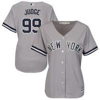 MLB Women S New York Yankees Aaron Judge Majestic Road Gray Cool Base Replica Player Jersey
