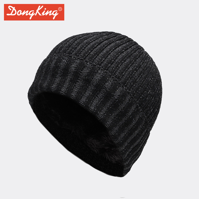 DongKing New Arrival Fashion Beanies Hot Sales Hat Fleece Inside Knit Beanie  Warm Winter Hats Slouchy Beanie Christmas Gift 0a08f09abdf