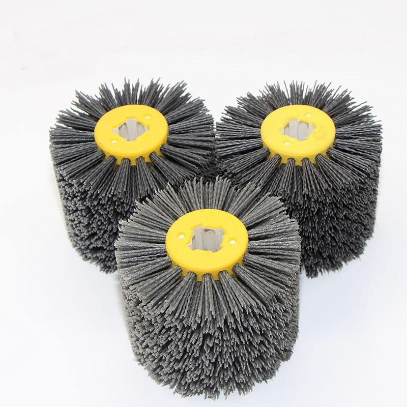 New 1pcs Cross Core Abrasives Wire DuPont Drum Wheel Brush For Wooden Furniture Burnishing Polishing Striping Drawing