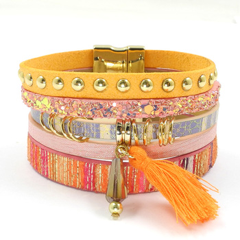 Layered-Multi-Texture-Leather-Charm-Bracelets-with-a-Bohemian-Flare-4