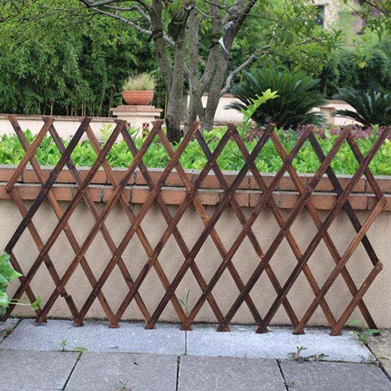 Us 18 4 29 Off Expanding Wooden Garden Wall Fence Panel Plant Climb Trellis Support Decorative Garden Fence For Home Yard Garden Decoration In