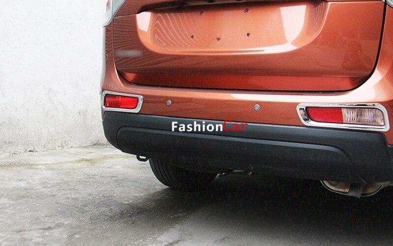 Для Mitsubishi Outlander 2013 задний хвост Туман свет лампы Крышка отделка 2 шт.
