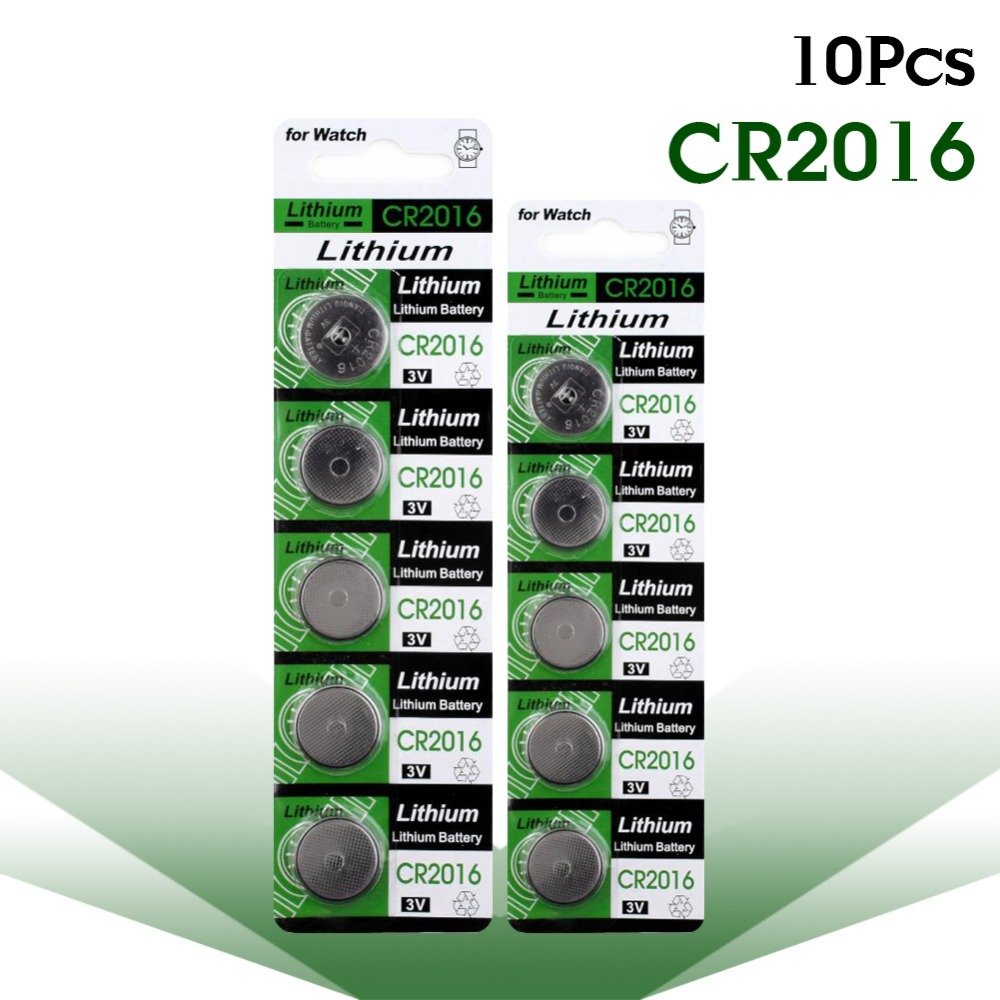 YCDC Hot Selling 10 Pcs CR 2016 3V Lithium Coin Cells Button Battery DL2016 KCR2016 CR2016 LM2016 BR2016 EE6225