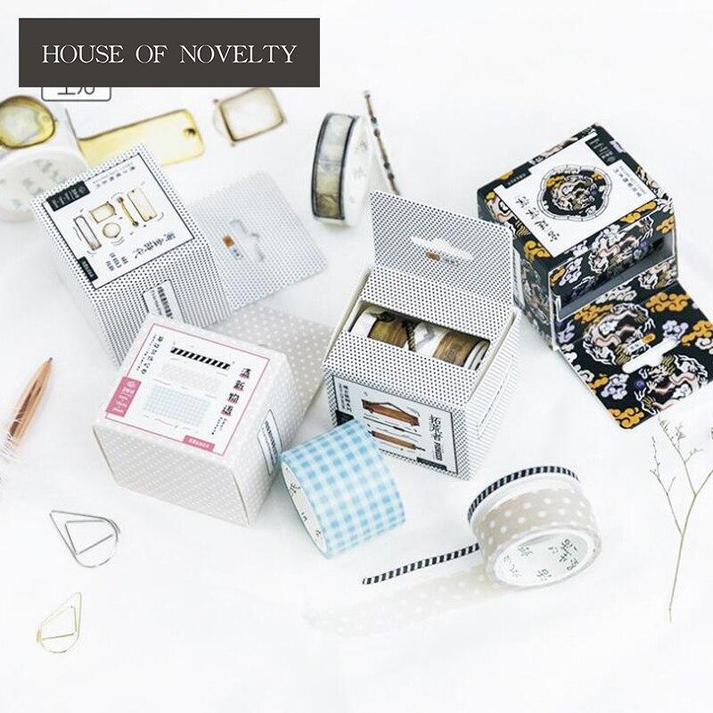 3 pcs/pack Retro Life Decorative Washi Tape DIY Scrapbooking Masking Tape School Office Supply
