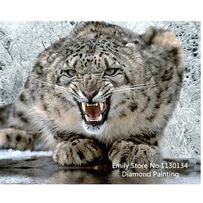 DIY diamond painting cross stitch Needlework diamond mosaic diamond embroidery snow leopard pattern hobbies and crafts DP168DIY diamond painting cross stitch Needlework diamond mosaic diamond embroidery snow leopard pattern hobbies and crafts DP168