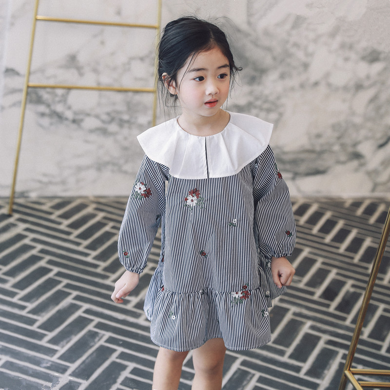 Baby Girl Dress Kids Clothes 2018 Spring Cotton Wedding Princess Dresses For Girls Embroidery Floral Children Clothing 3ds328 floral printed baby girls dresses fashion 2017 summer baby dress baby girl clothes kids pattern cotton dress princess clothes