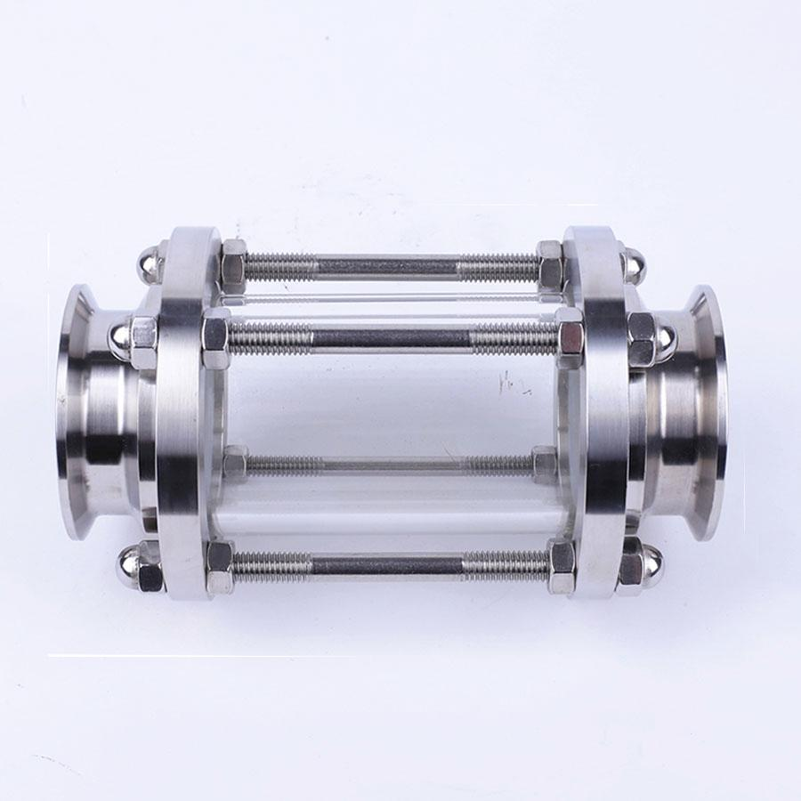 Brewing Diopter 2.5 Tri Clamp x 63mm Pipe OD SUS 304 Stainless Steel Sanitary Flow Sight Glass Homebrew Beer