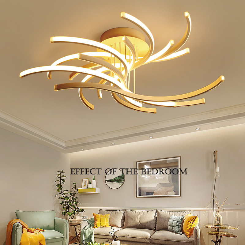 Postmodern LED Ceiling Lights Aluminum Lighting Remote Dimming Lighting Living Room Bedroom Lamps Home Fixtures