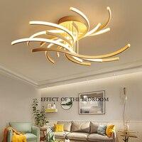 Pós moderna LED luzes de teto de alumínio iluminação controle remoto escurecimento lâmpadas de iluminação sala de estar quarto casa luminárias Luzes de teto Luzes e Iluminação -